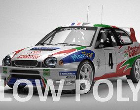 3D asset Toyota Corolla WRC Low Poly
