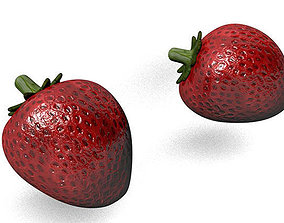 Strawberry realistic 3D asset