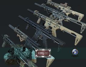3D asset Modular Combat Rifle-Close Quarter Combat