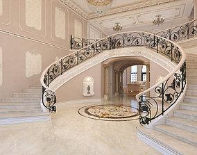 Interior classical mansion 2 3D model