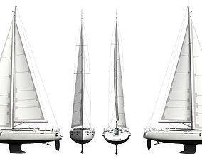 yachtboat Sailing Yacht 3D