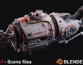 3D PBR URAN Spacecraft - Scene files