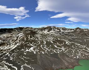 Aniakchak crater Alaska 8k 3D model