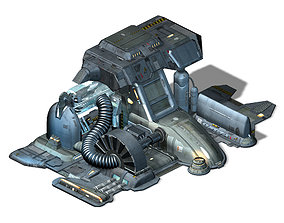 Machinery - Spacecraft - Functional Objects 03 3D