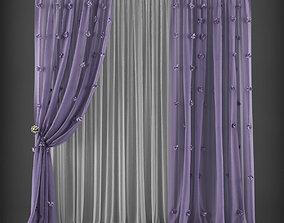 VR / AR ready Curtain 3D model 205