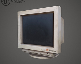 Old monitor 3D model