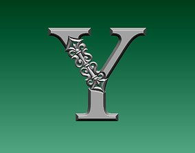 3D print model letter Y