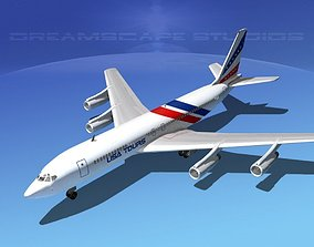 3D model Boeing 707 USA Tours