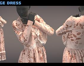 Vintage dress - Marvelous-Clo 3D obj
