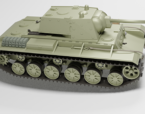 3D model Kv 1 Soviet tank