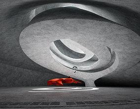 3D model game-ready Dynamic Concrete Room