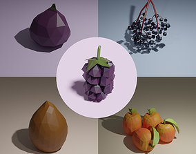 Low poly fruits pack-3 3D
