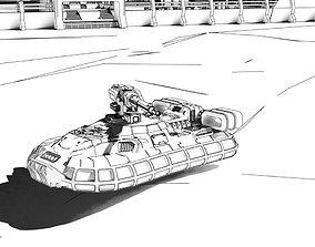 Gisborne Hover Tank 3D print model