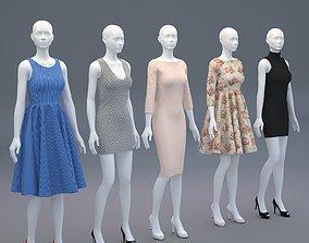 3D Mannequin Woman Cloth Model For Shop vol2