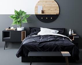 room modern bed 3D model