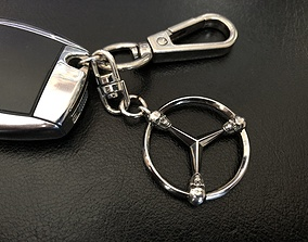 3D print model keychain mercedes