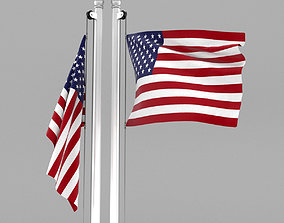3D Flag of United States of America