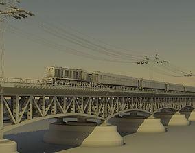 3D model train scene