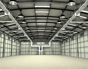 3D model Facroty Hangar Interior And Exterior