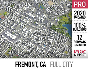 Fremont - California - city and surroundings 3D asset