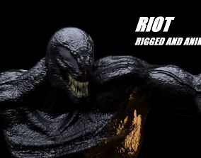 3D asset Riot Venom 2018 inspired model Rigged and