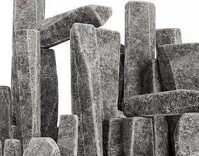 3D model Stone rock block