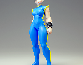 Chun Li Fan art Model for 3d printing female