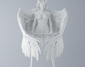 Evil Medusa holding an axe 3D printable model