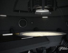 Futuristic garage 3D