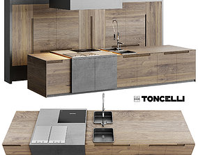 3D model AVE Toncelli Essence Kitchen and Miele
