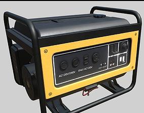 Power diesel generator PBR Game-Ready 3D asset