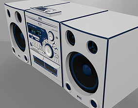 Stereo with CD Player - Tape Player - Radio 3D model