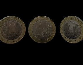 1 Euro Coin - Germany 3D model