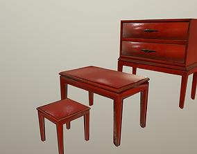 3D model Red wooden furniture