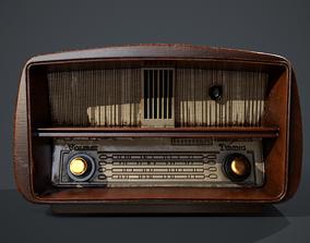 Vintage Radio 3D asset game-ready