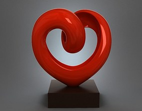 3D printable model Heart Figurine