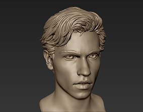 3D Male Head with Hair Sculpt