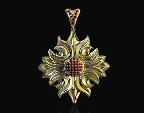 half ball of gems pendant 3D print model