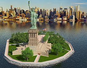 liberty Statue of Liberty Island 3D