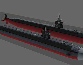 3D model New Version of USS SSN Los Angeles