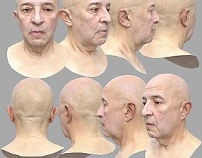 3D asset AAA Quality Low Polygon Male Head Scan
