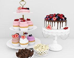Berry dessert 3D