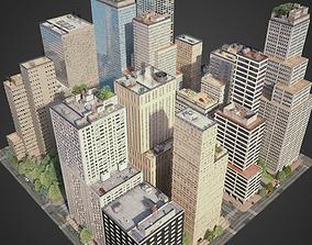 3D urban City District C6-C16