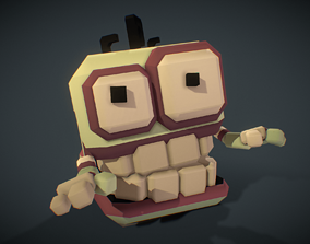 Micro Zombie Brian - Proto Series 3D asset