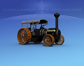 Steam Tractor 3D model