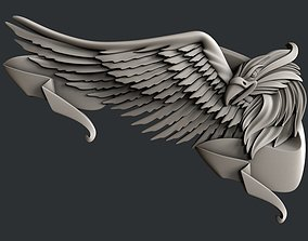3d STL models for CNC router eagle bird