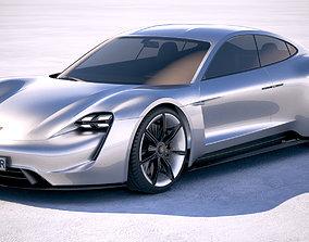 3D Porsche Mission E Concept 2015 Bonneville
