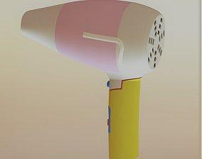 3D asset animated Hair Dryer