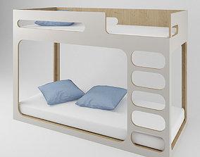 Perludi bed for children - bunk bed - modern - Hochbett 3D
