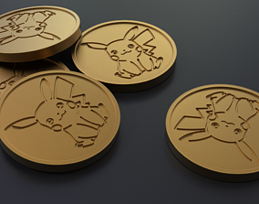 3D printable model Pokemon - Collectable Pikachu Coin